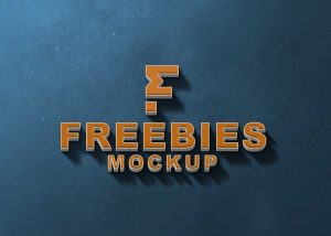 3D Freebies Logo Mockup 2021