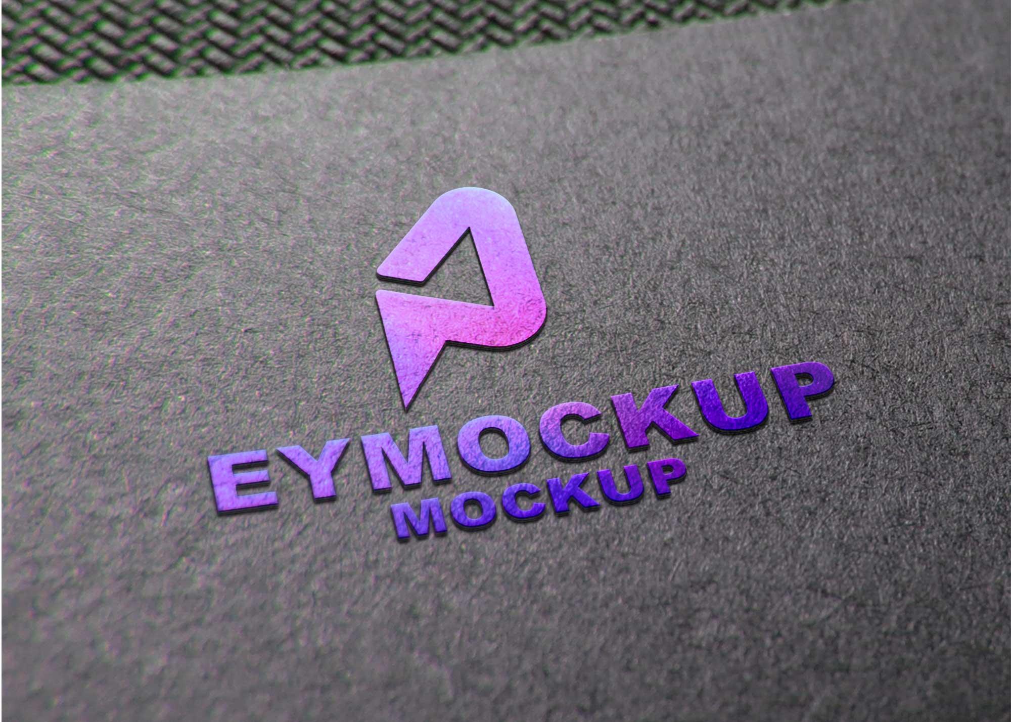 Color Back Logo Mockup