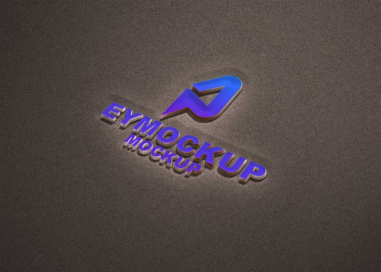 FreeBies Sand 3D Logo Mockup