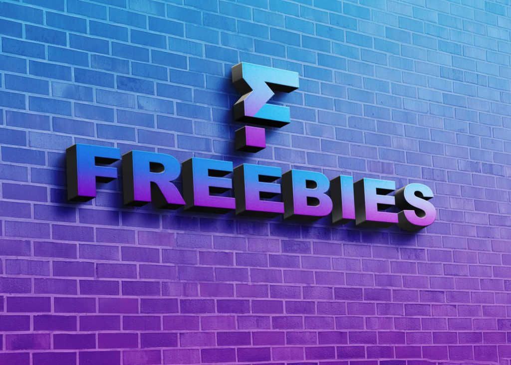 Freebies 3D Wall Mockup