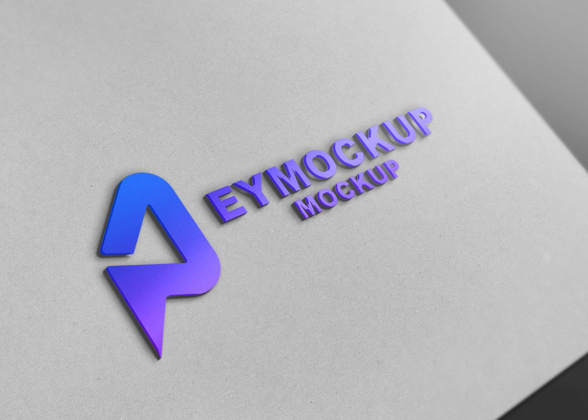 AirFlow 3D Logo Mockup