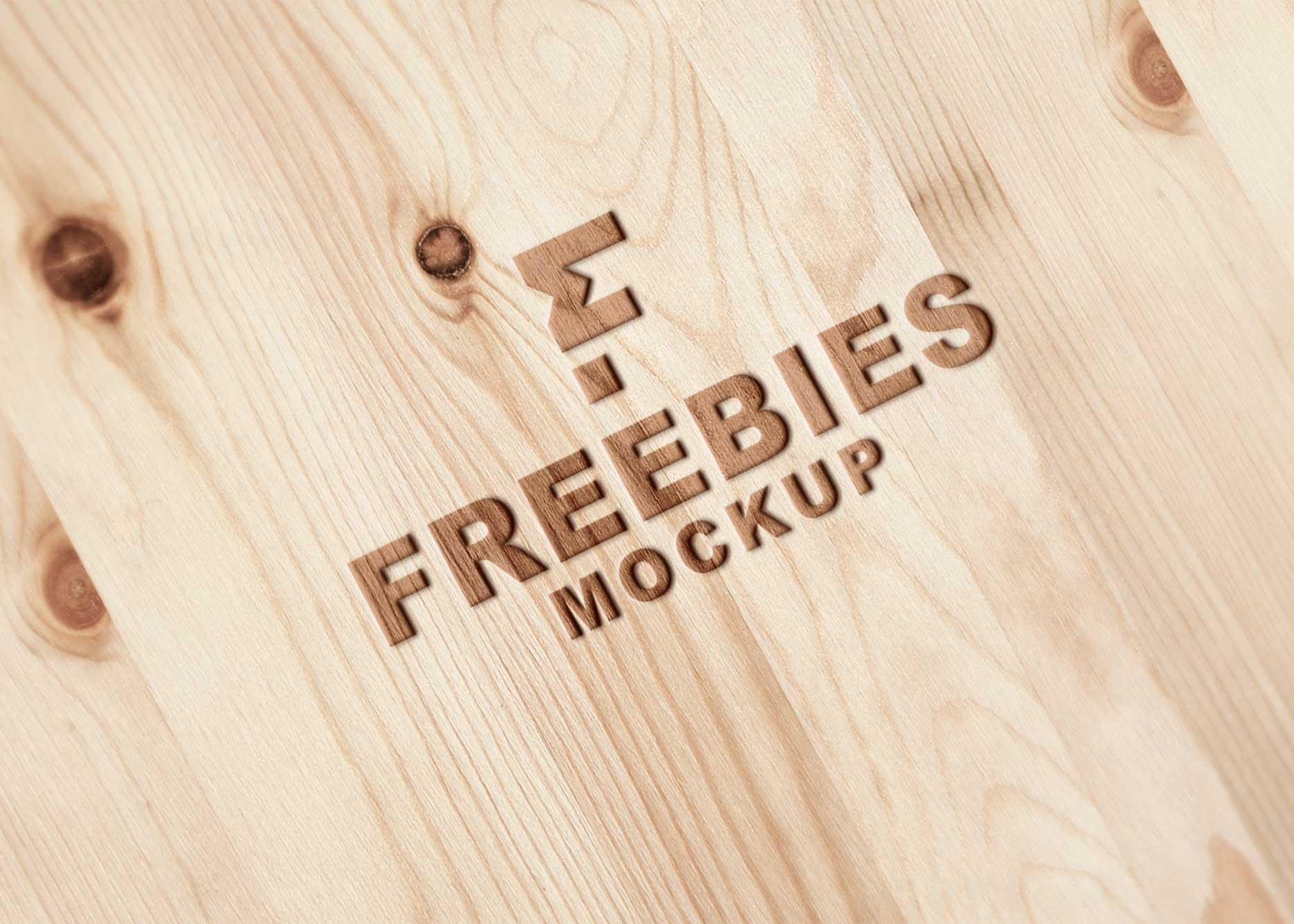 Ashes Wood Logo Mockup