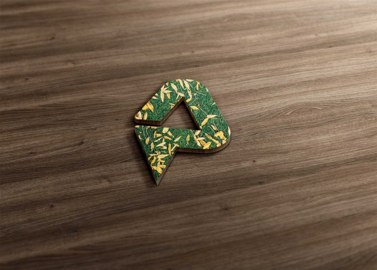Beautiful Grass 3D Logo Mockup