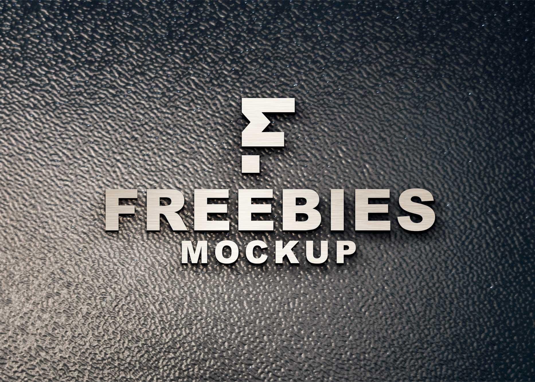 Black Freebies Logo Mockup