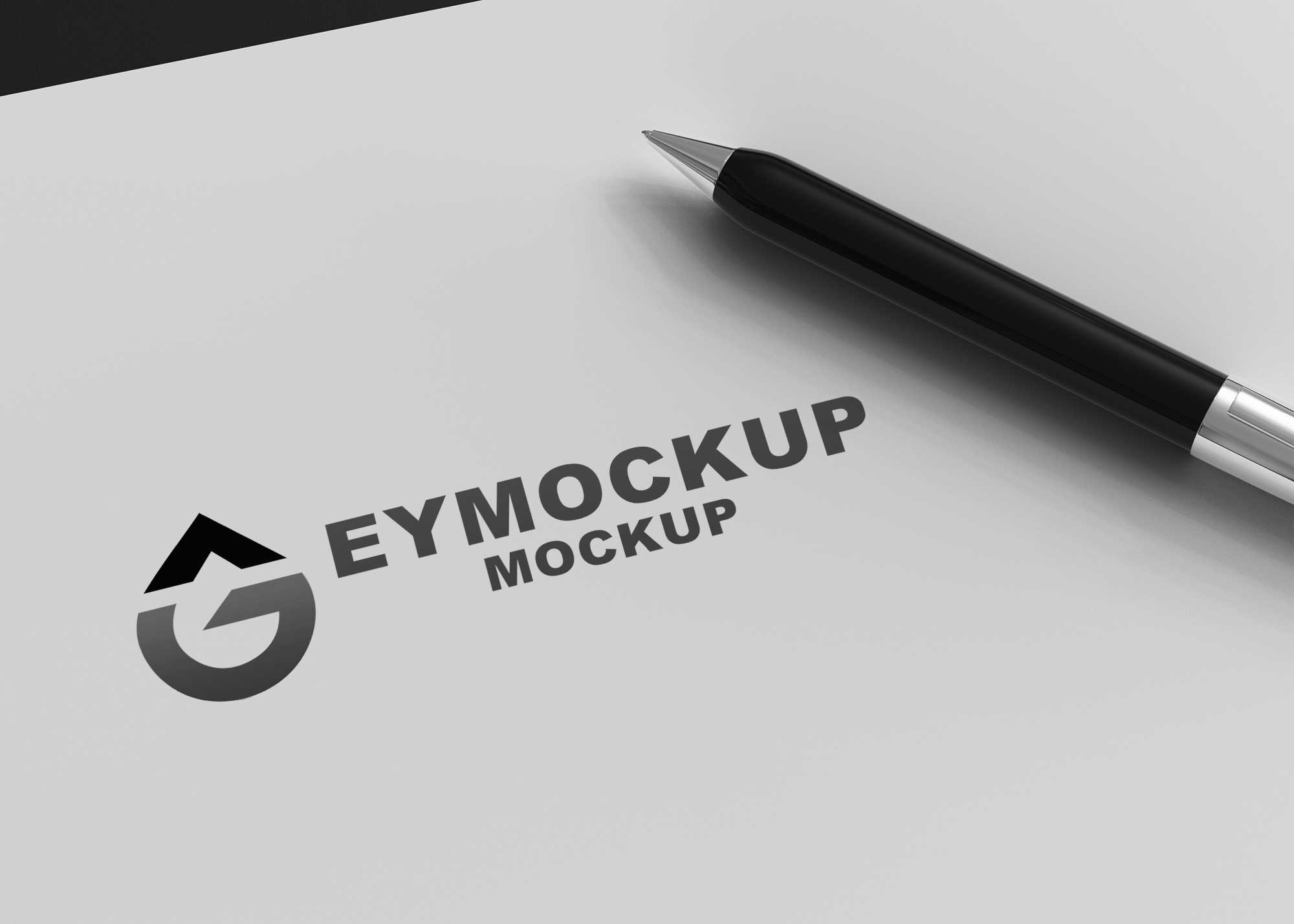 Black and White Logo Mockup
