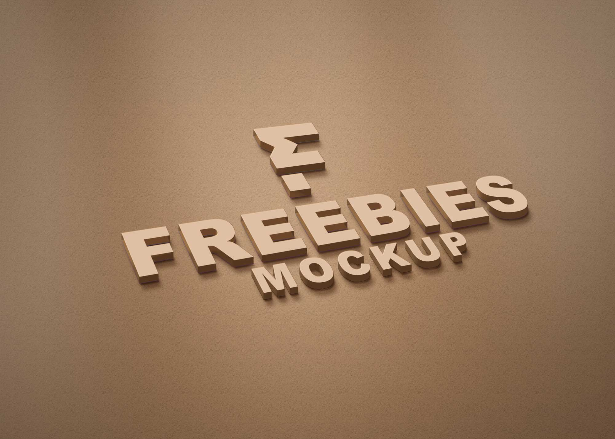 Freebies Brown Logo Mockup