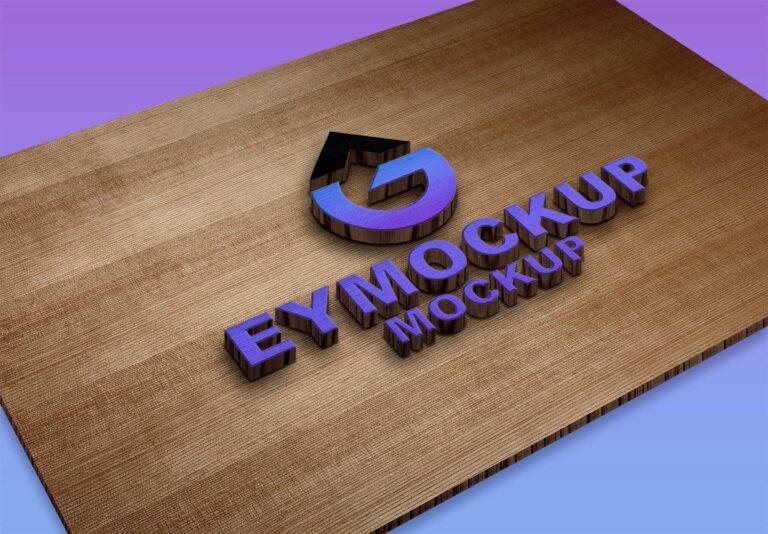 CNC 3D Logo Mockup