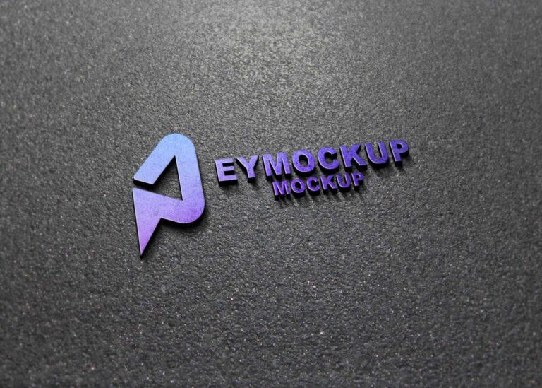Classic 3D Logo Mockup