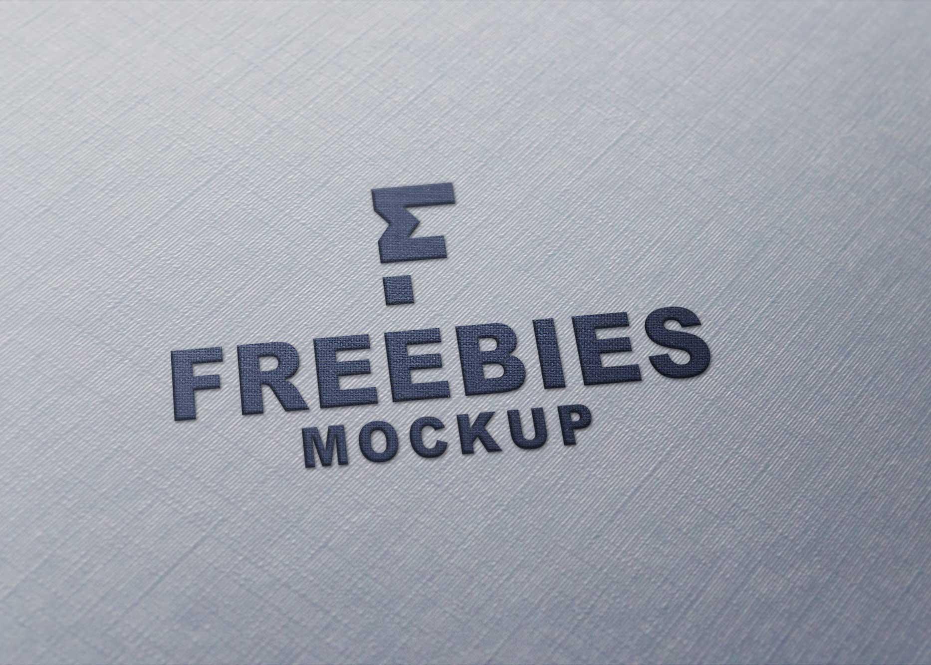 Clothing Plain Logo Mockup