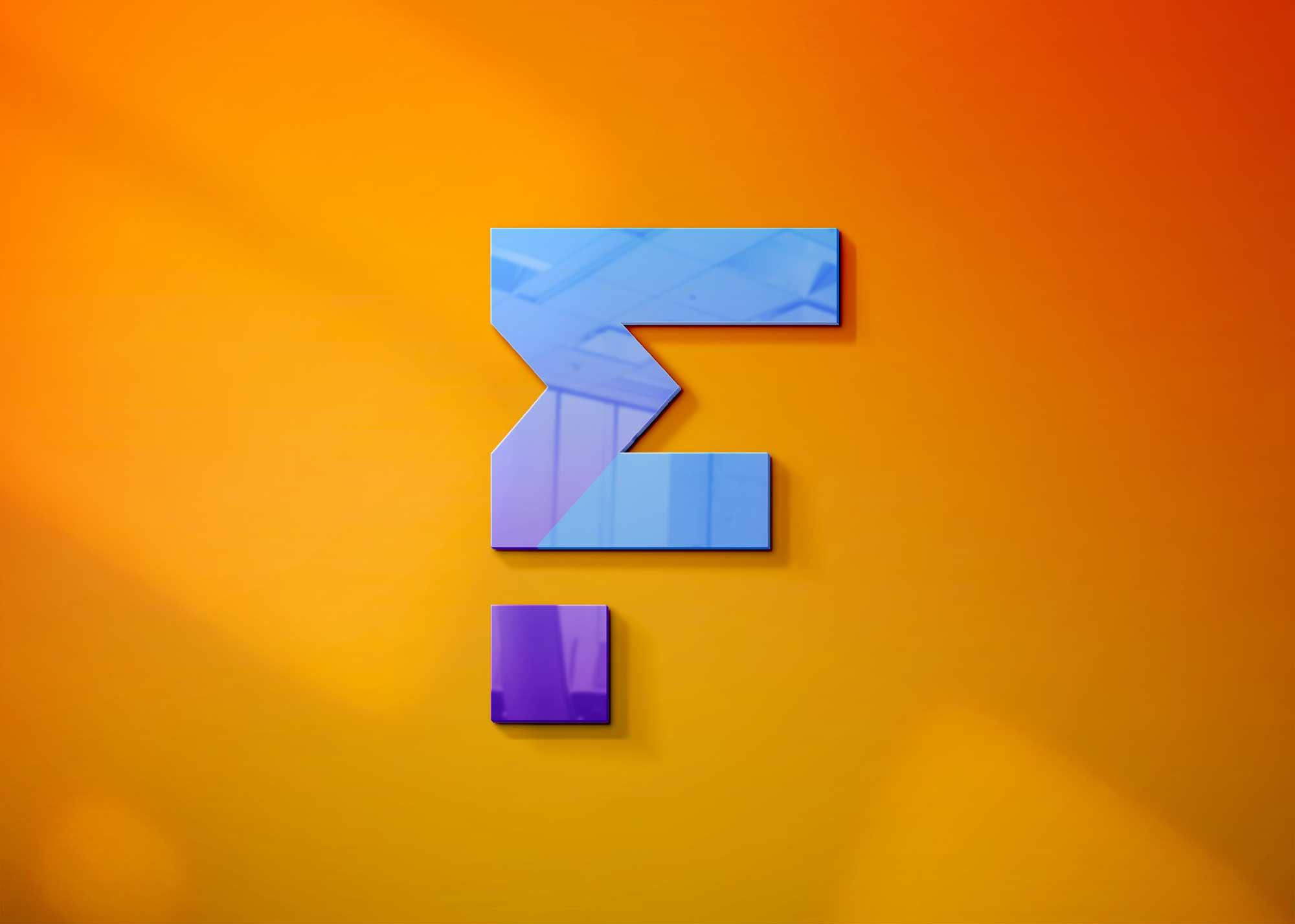 Colorful 3D Freebies Logo Mockup