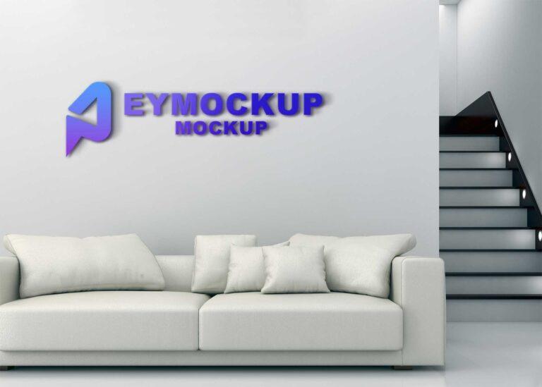 Event 3D Logo Mockup