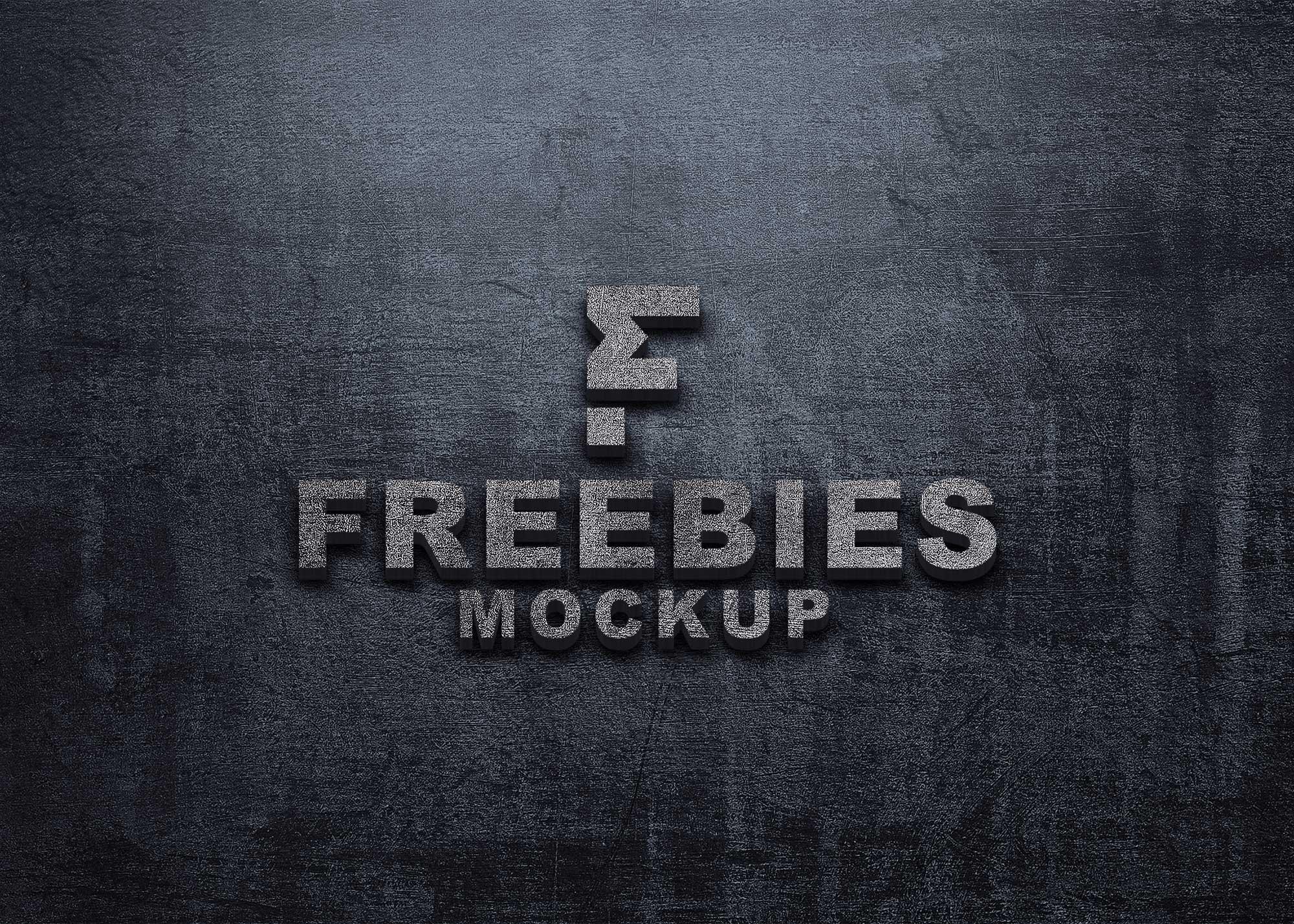 Fire Ashes Effect Logo Mockup