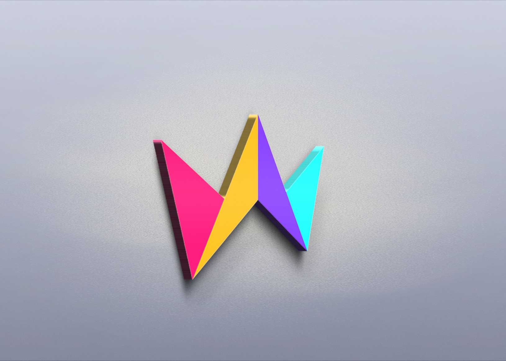 Floating 3D Logo Mockup