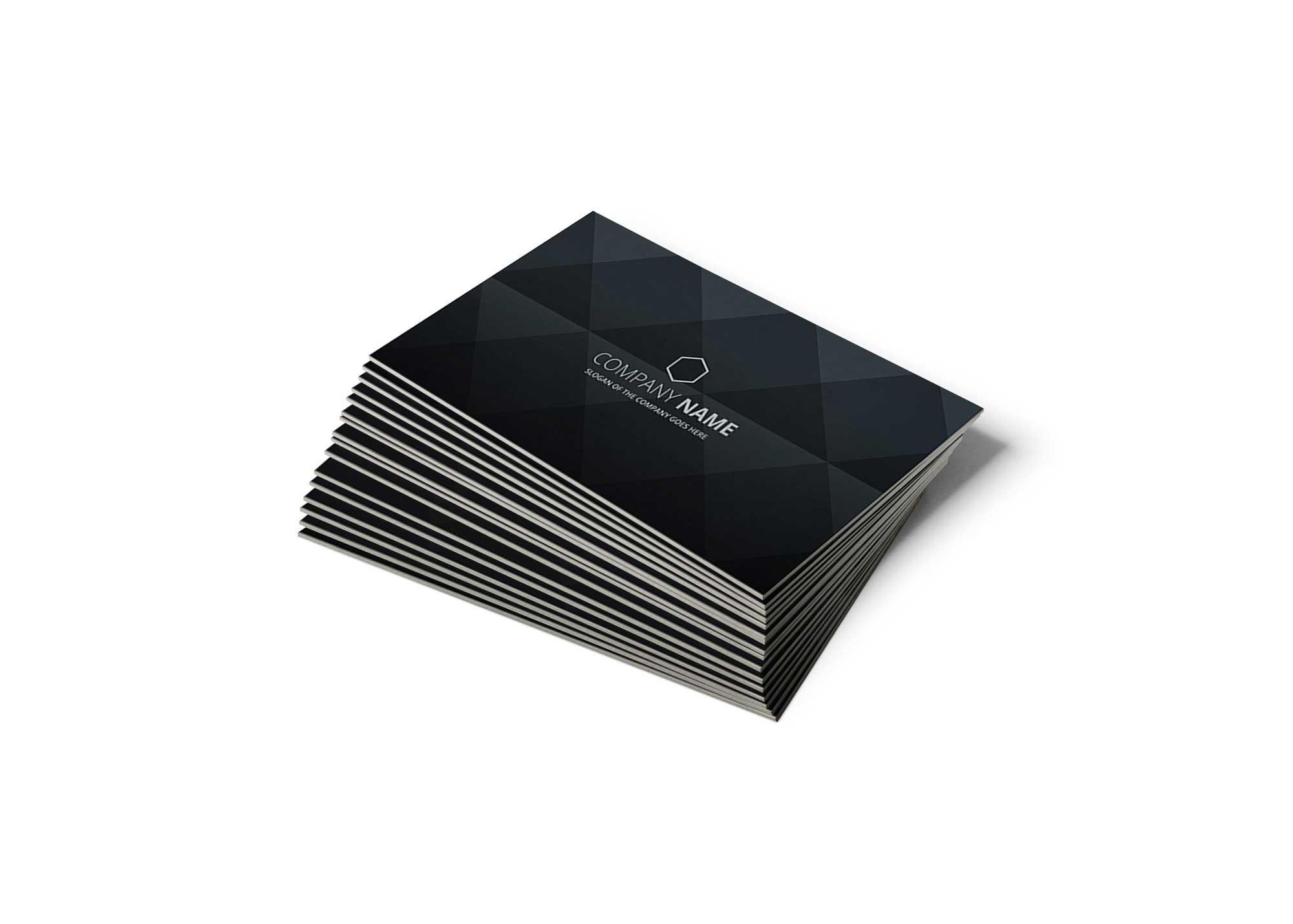 Free Falling Business Card Mockup
