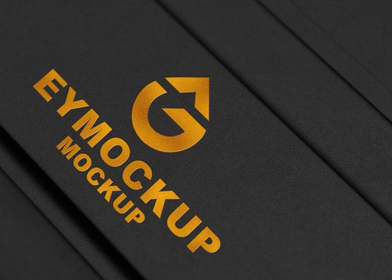Free Gold 3D Logo Mockup