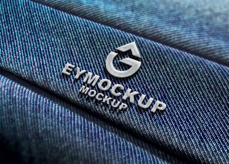 Free Hard Embroidery Logo Mockup