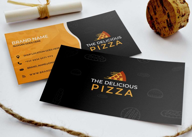 Free Item Business Card Mockup