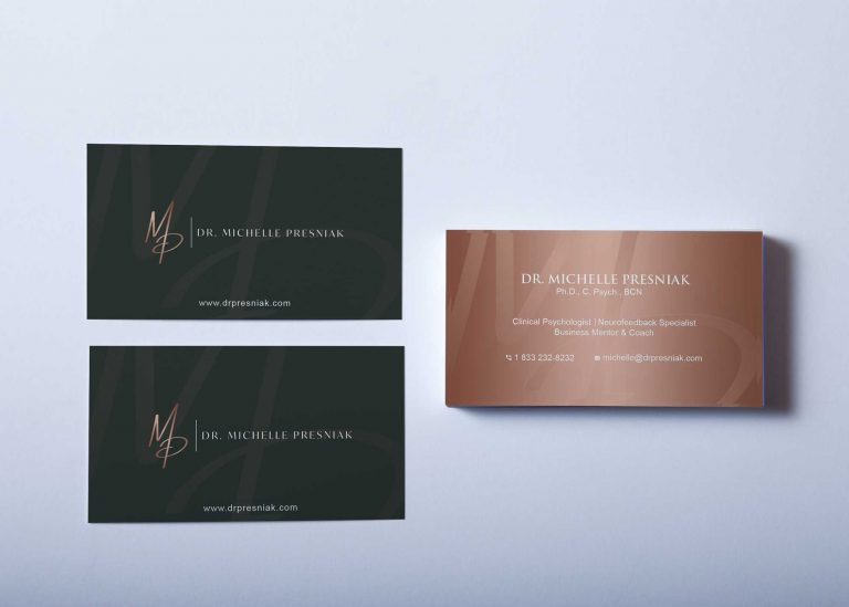 Free Over Head Business Card Mockup