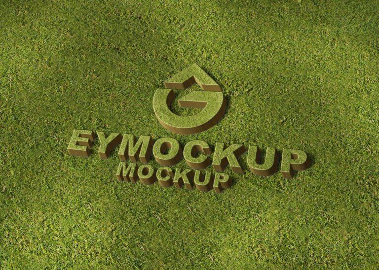 Free PSD 3D Logo Mockup