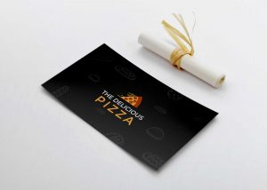 Pizza Business Card Mockup