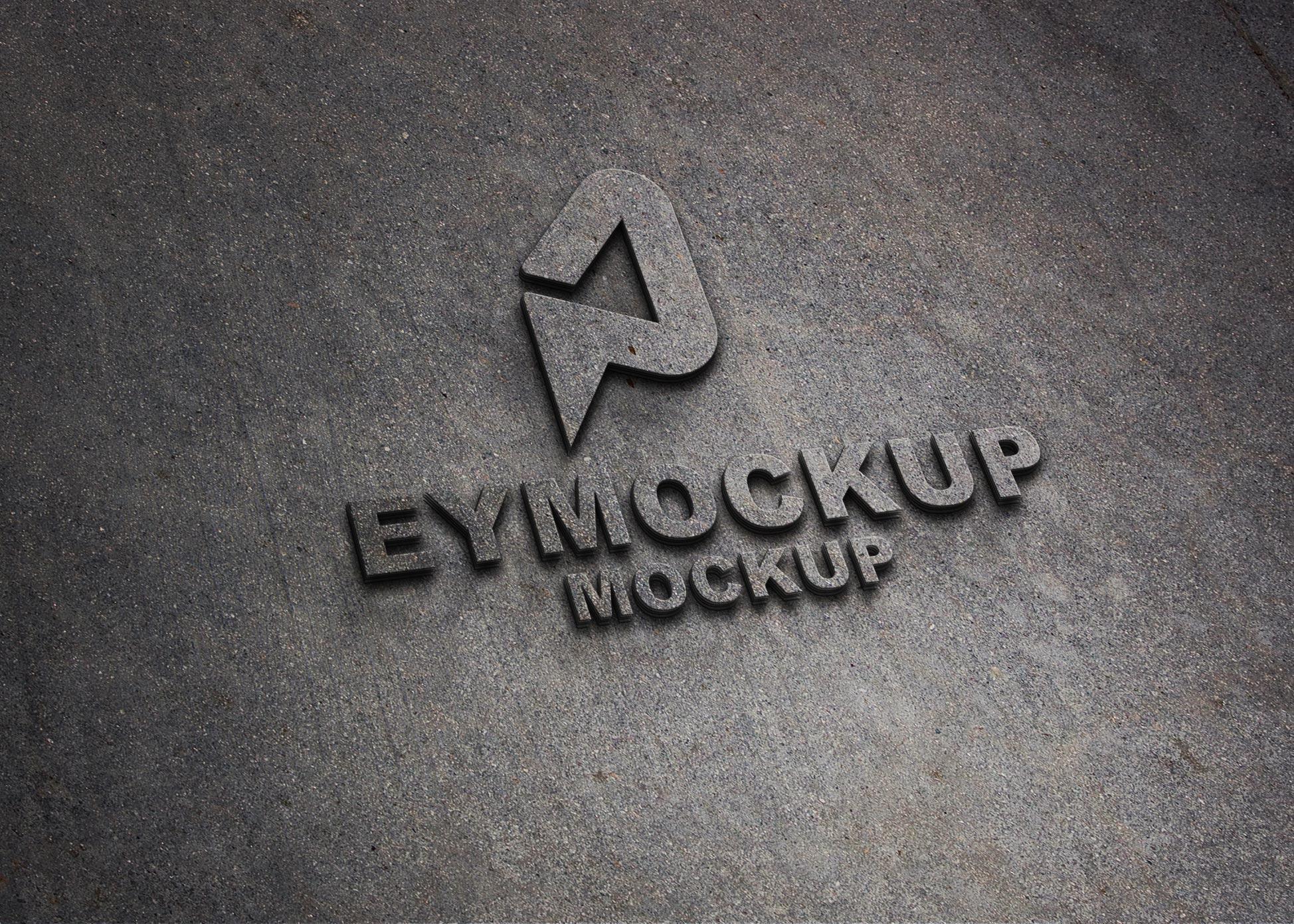 Free Realistic 3D Logo Mockup
