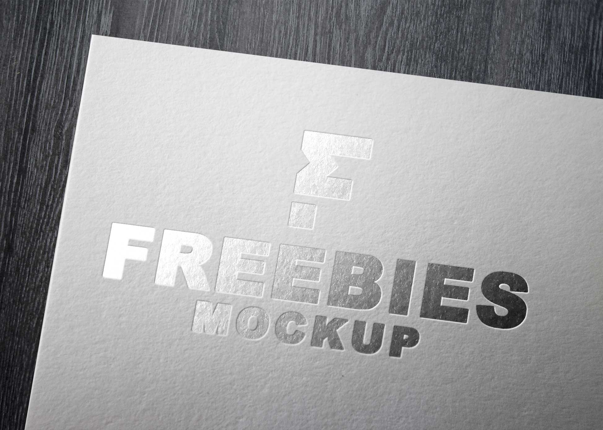 Silver Paper Logo Mockup