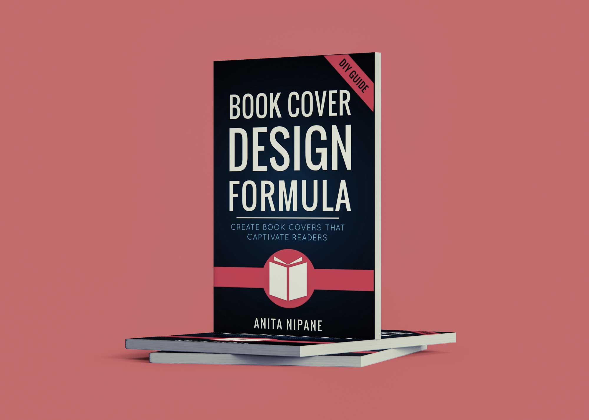 Standing Book Cover Mockup