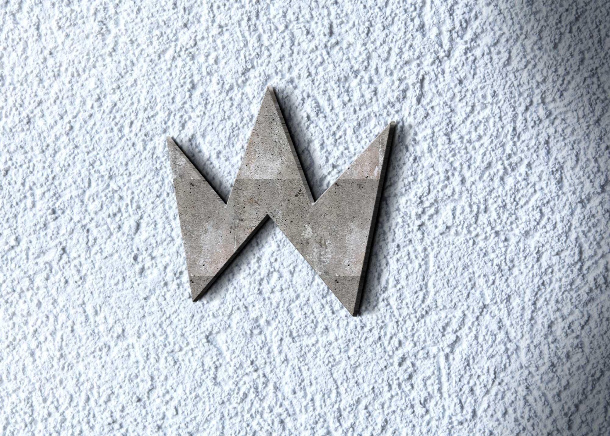 Freebies Cement 3D Logo Mockup
