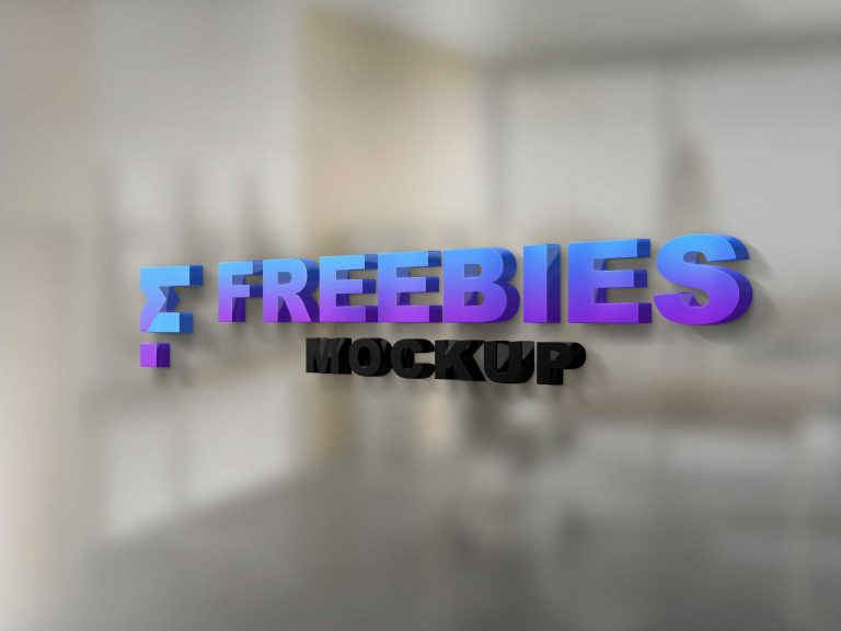 Freebies Glass Doow Logo Mockup