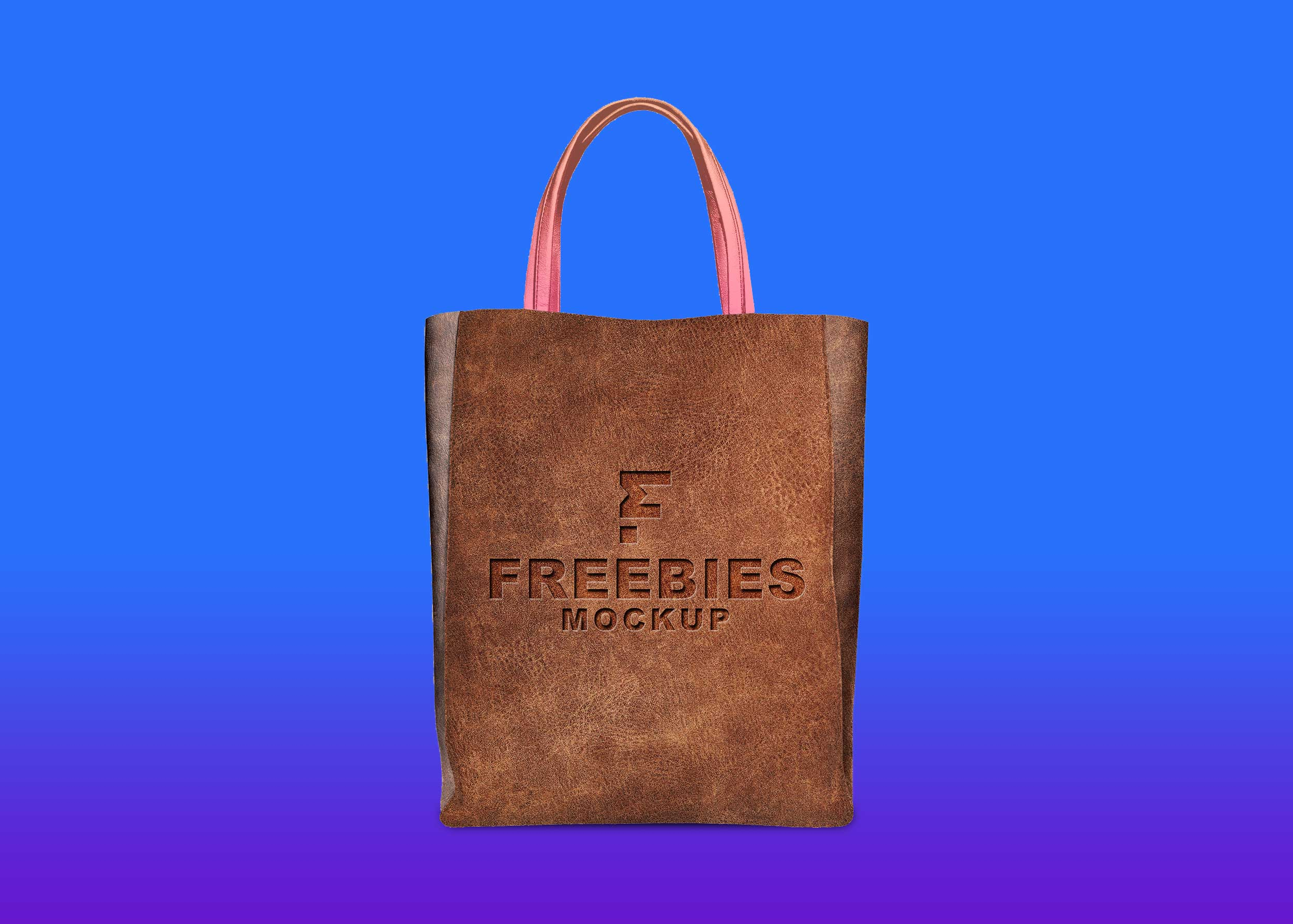 Freebies Leather Bag Mockup