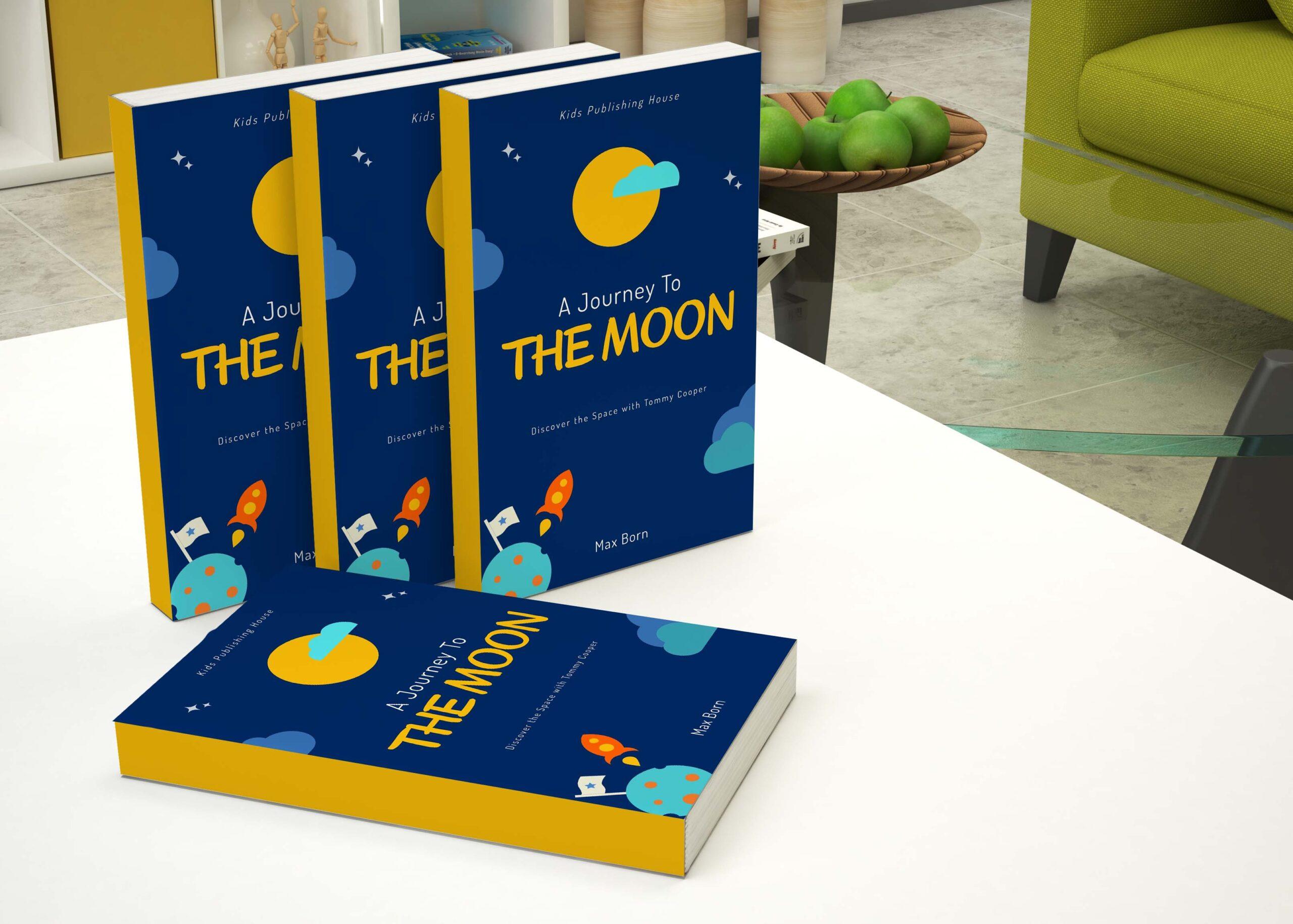 Moon Book Cover Mockup