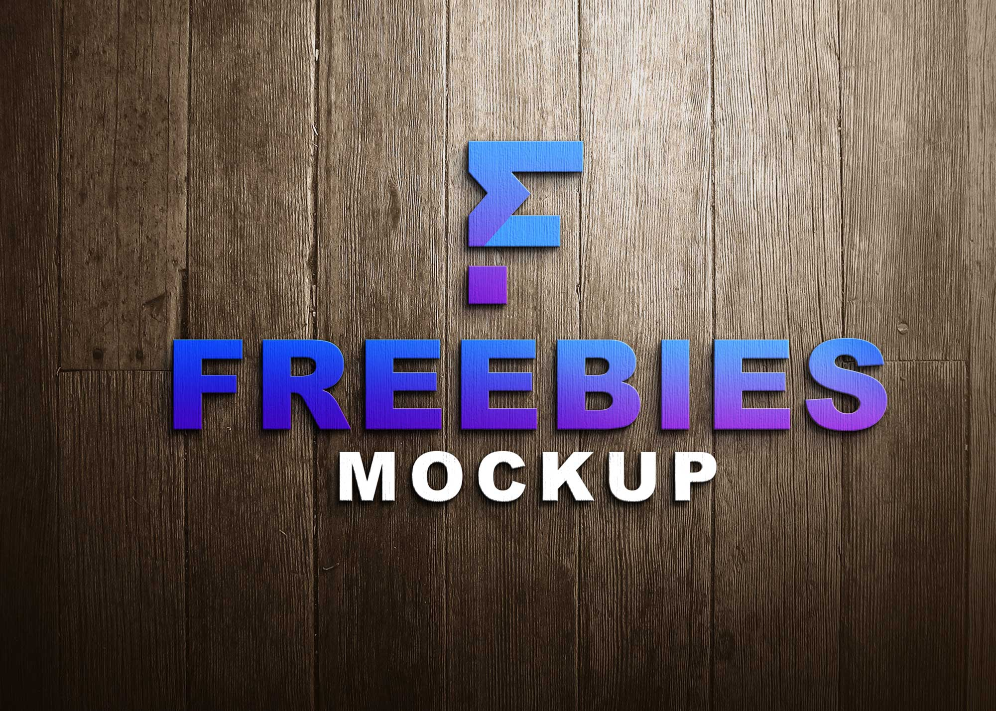 Freebies Simple 3D Logo Mockup
