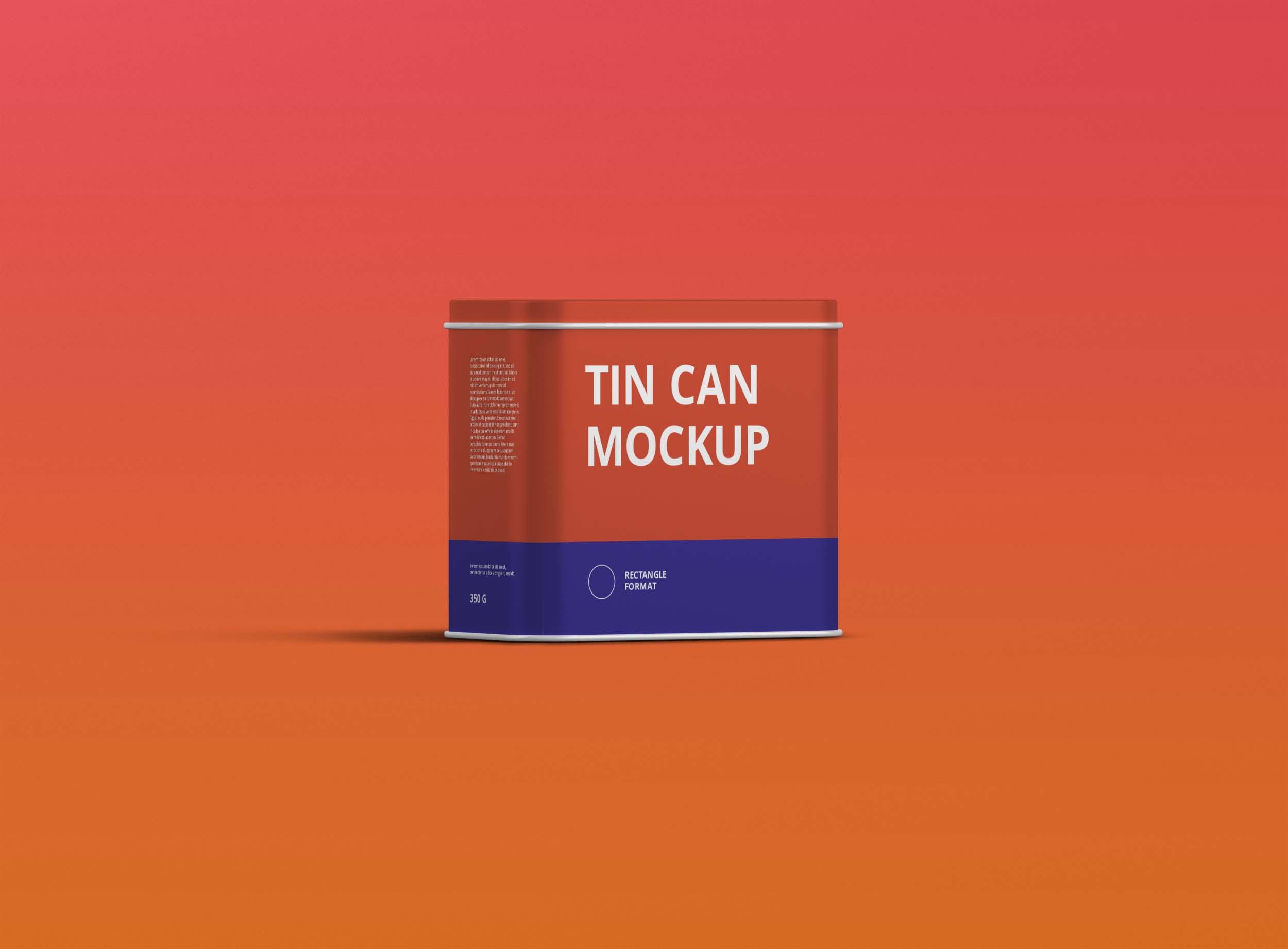 Freebies Tin Box Mockup