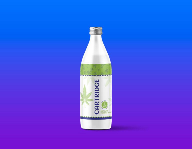 White Milk Bottle Mockup