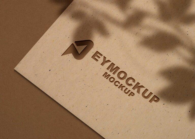 Game 3D Logo Mockup