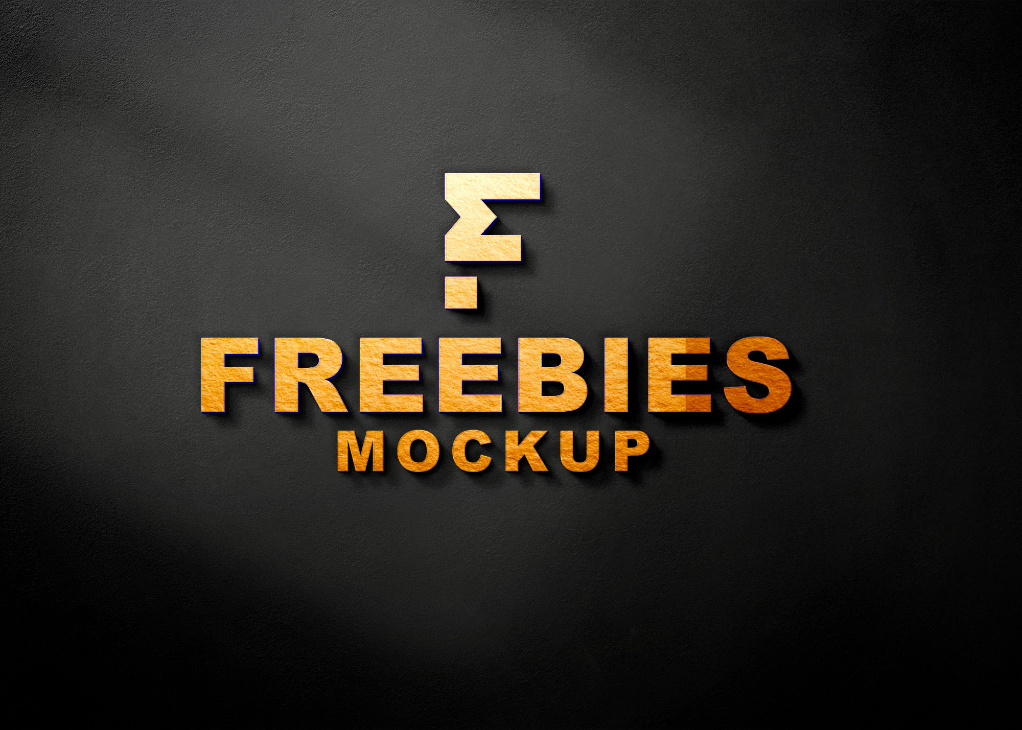 Freebies Gold Logo Mockup