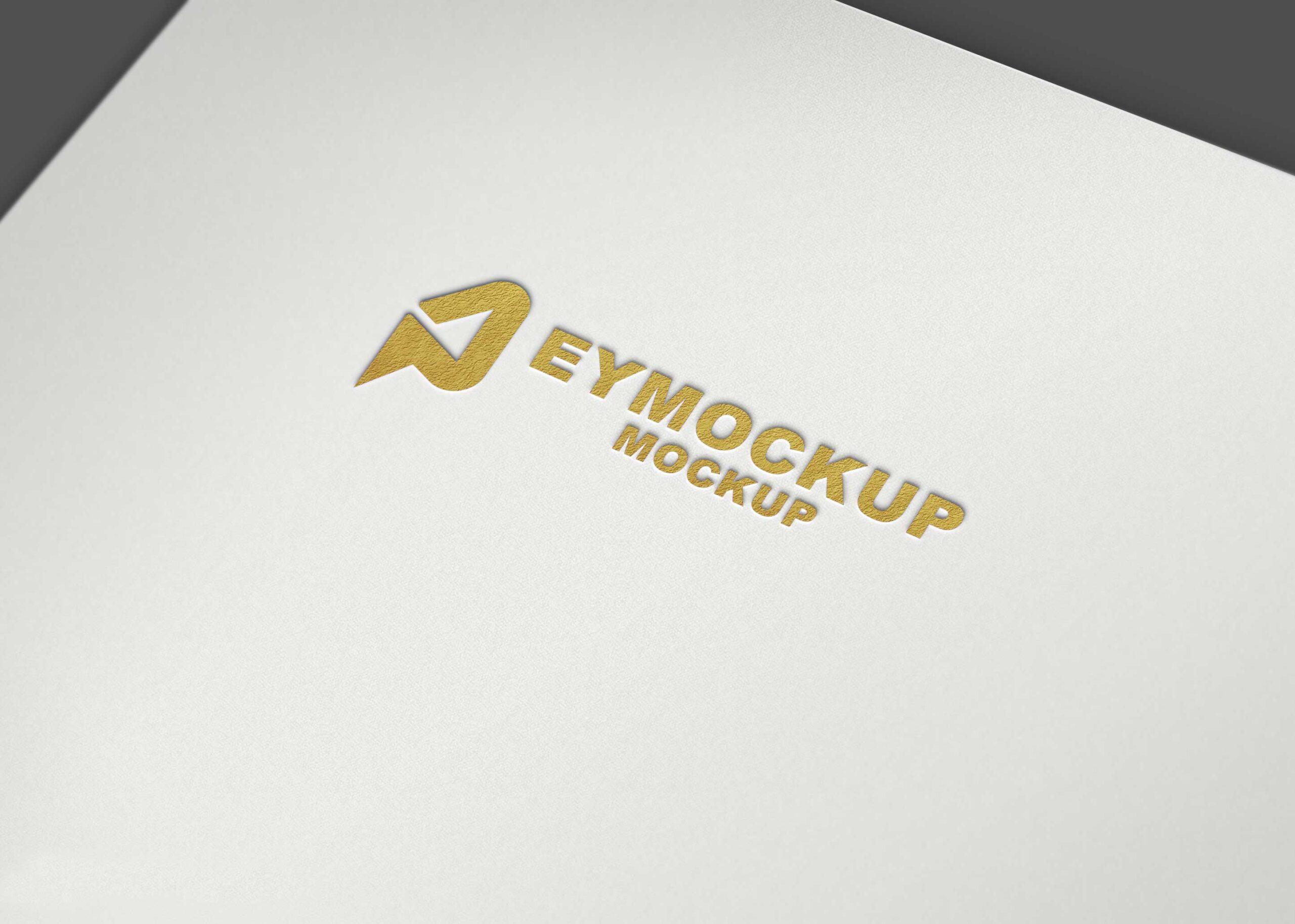 Golden Plain Logo Mockup