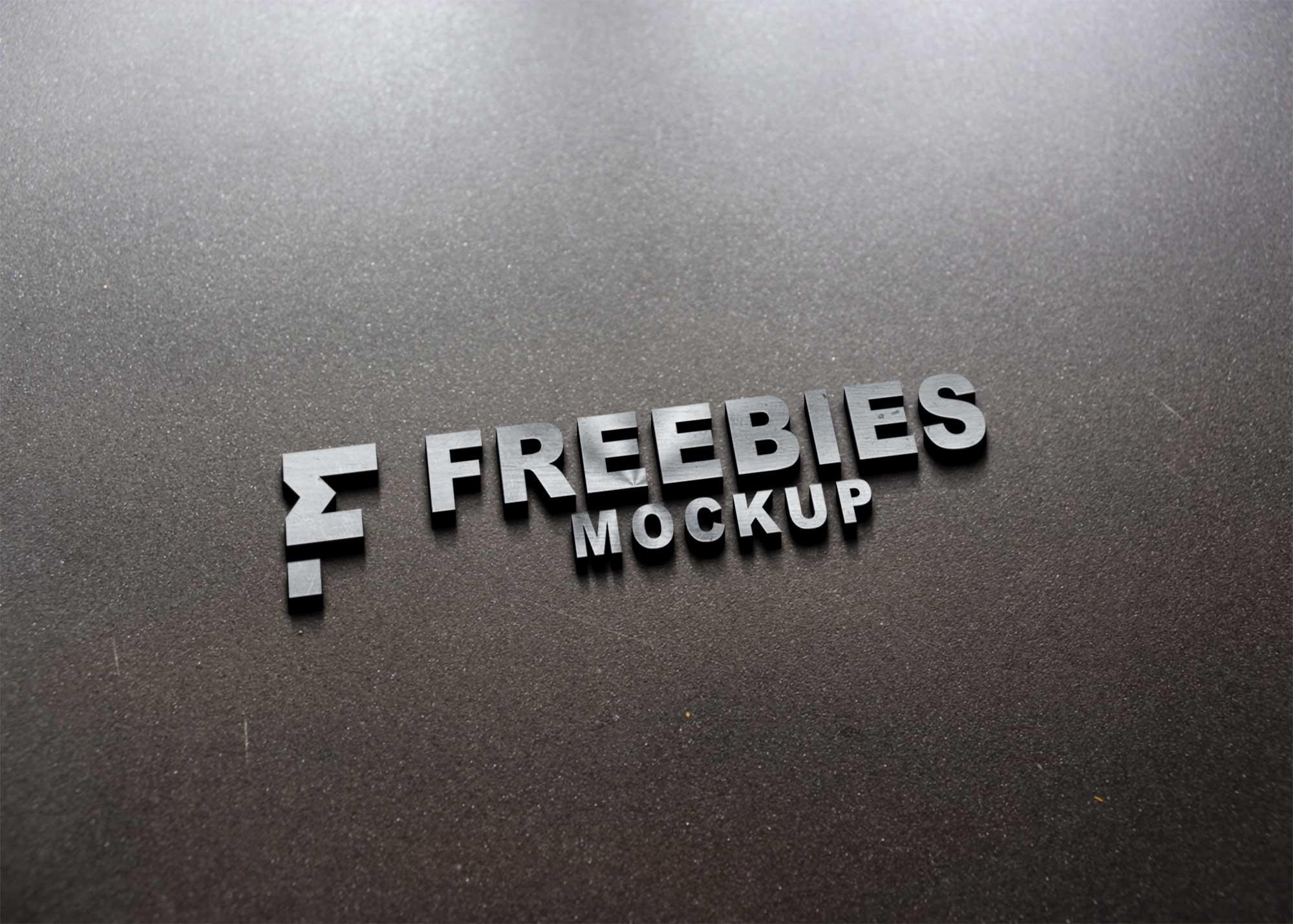 Hard Steel 3D Logo Mockup