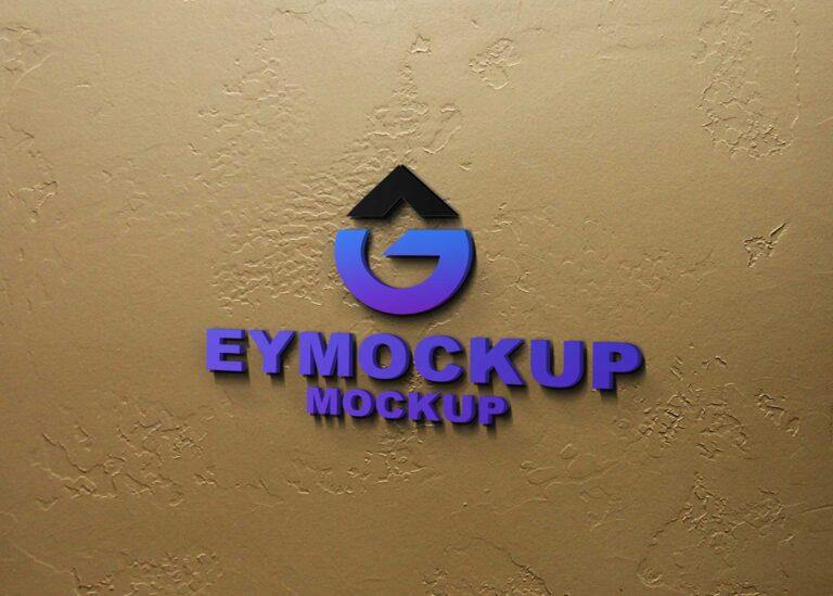 Indoor Wall Logo 3D Mockup