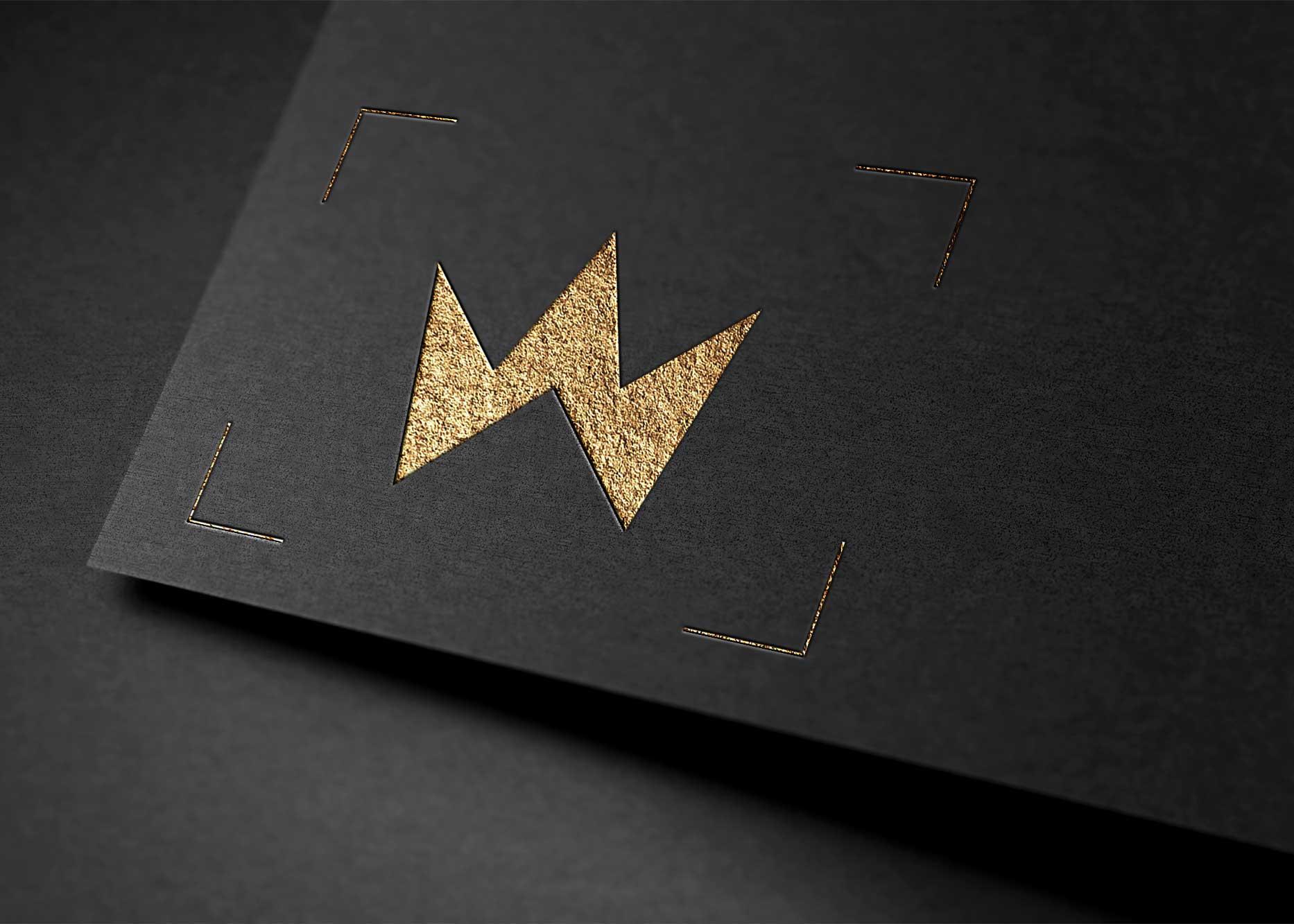 Instagram Luxury Logo Mockup