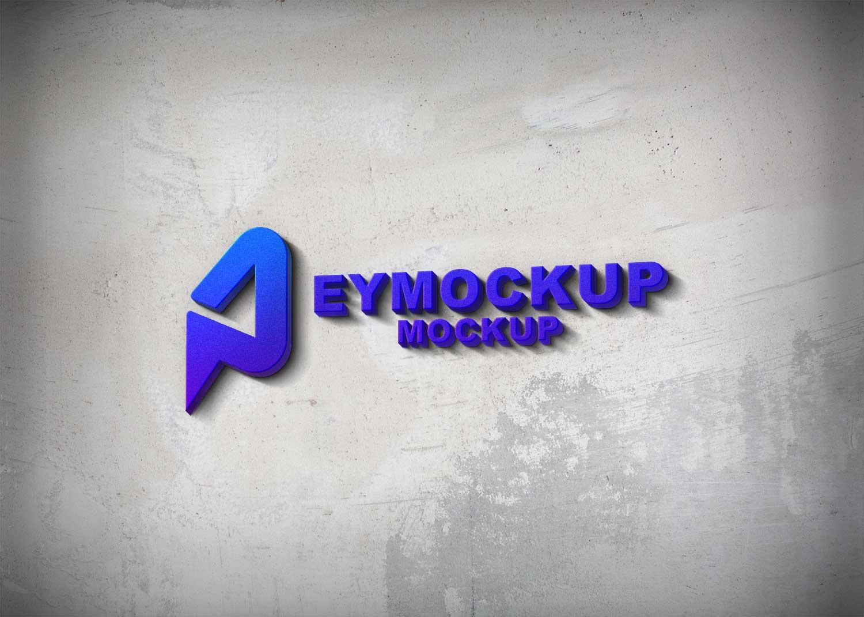Latest 3D Freebies Logo Mockup