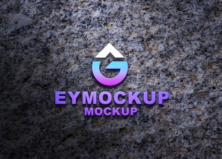 Latest Freebies 3D Logo Mockup