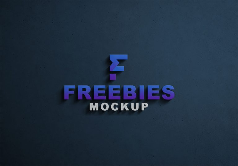 Freebies Latest 3D Logo Mockup
