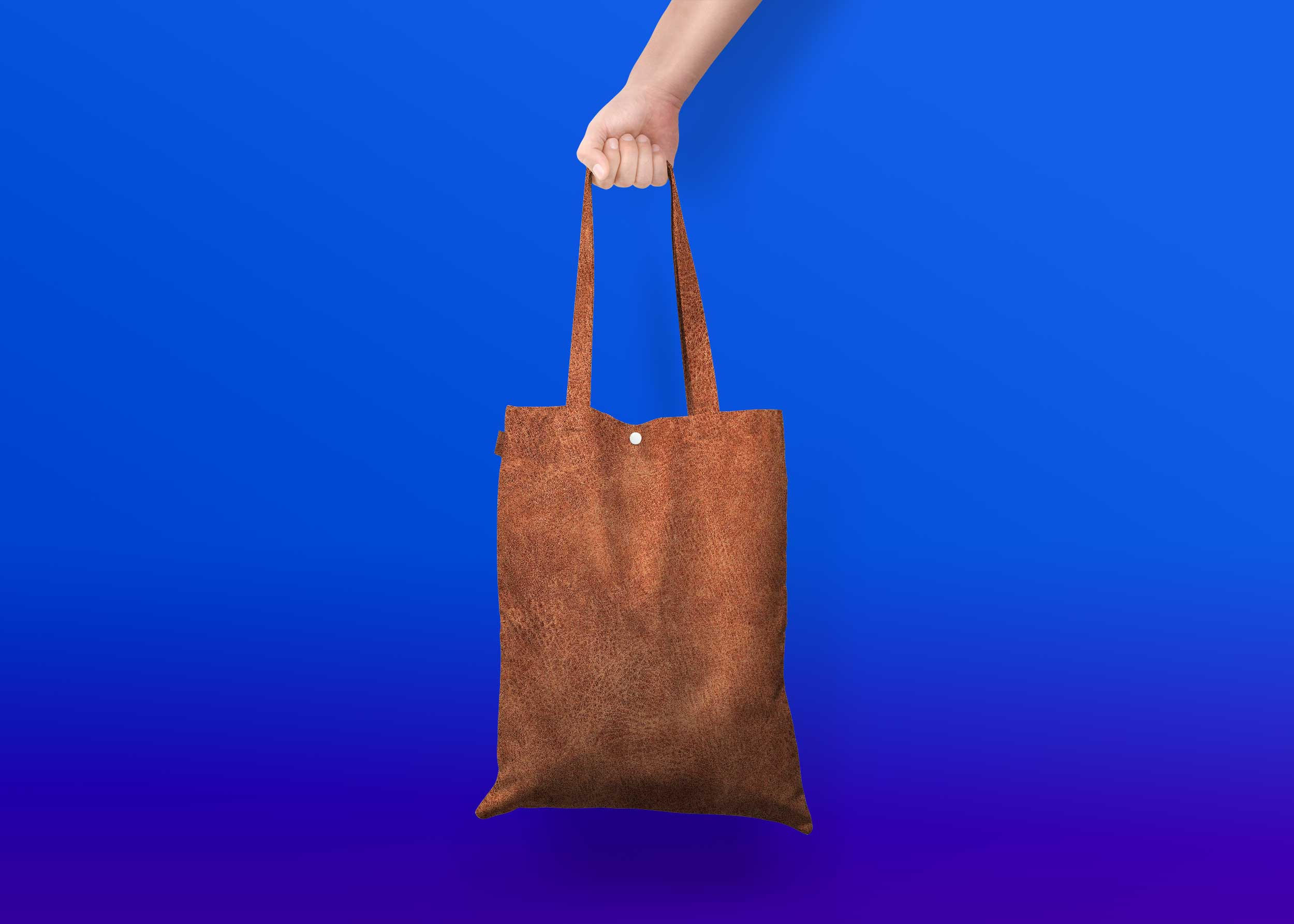 Brown Leather Bag Mockup