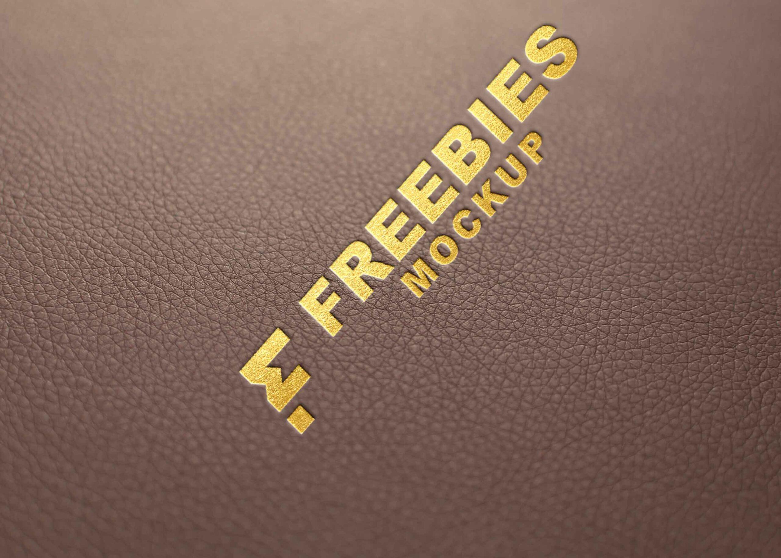 Leather Golden Logo Mockup
