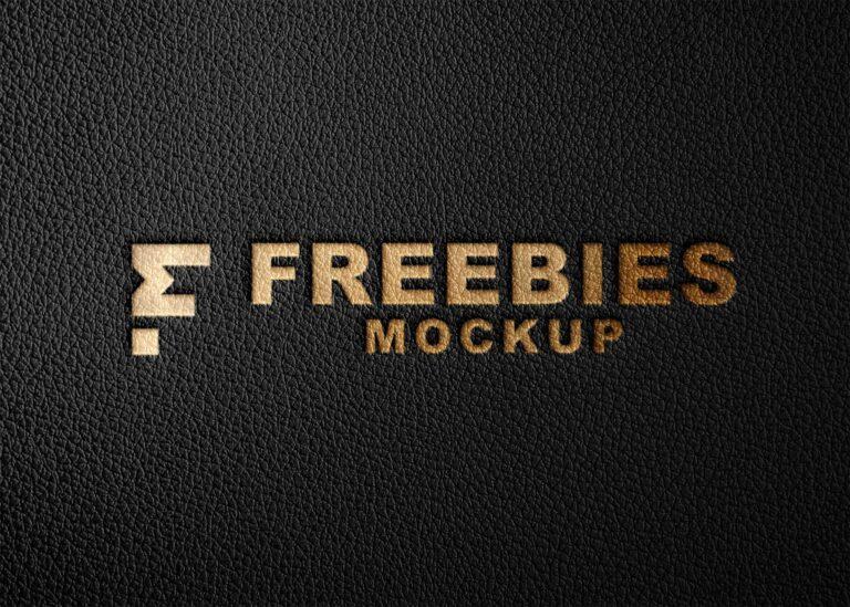 Luxury Leather Logo Mockup