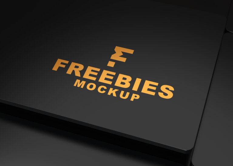 Matte Clean 3D Logo Mockup