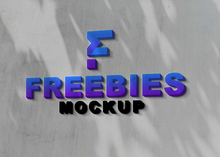 3D Realistic Logo Mockup