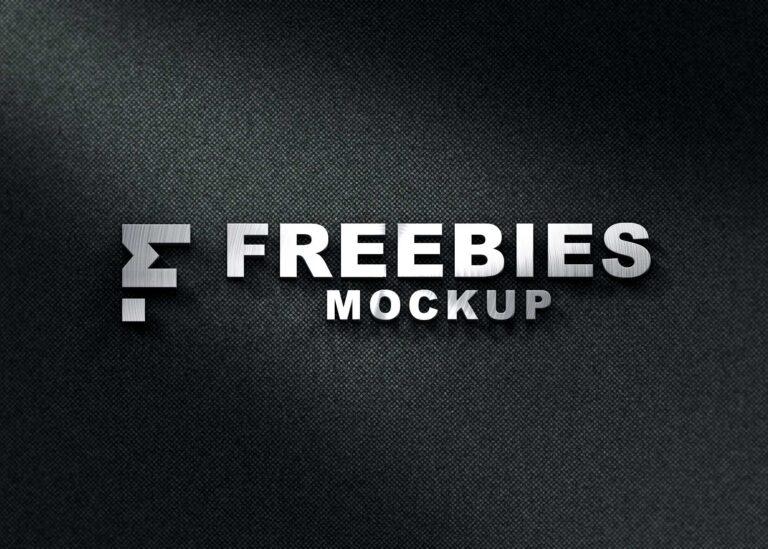 Monogram 3D Logo Mockup