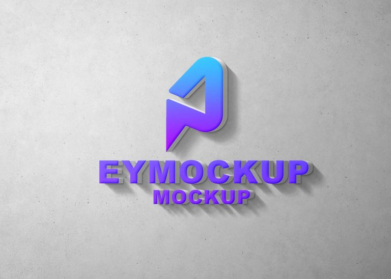 New 3D Wall Logo Mockup 2021